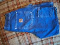 Carhartt Mens Size 28 (Actual 25x8.5) Carpenter Jean Shorts 100% Cotton B28 DST