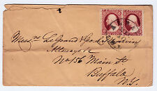 "#26A-3 Cents 1857, 61R + 72R10L, ""ALBANY DEC 10 N.Y."" (1857)- Attorney's Buffalo"