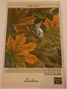 1950 Burlington Route Luncheon Menu Jack Frost Cover Art