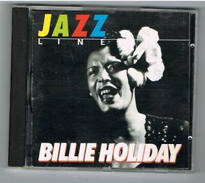 BILLIE HOLIDAY - JAZZ LINE - CD 12 TITRES - TRÈS BON ÉTAT