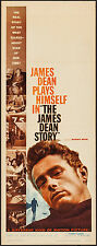 "Poster The James Dean Story 1957 Insert 14""x36"" FN+ 6.5 Clark Gable Rock Hudson"