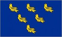 Sussex County Flag 5ft x 3ft British English Counties Banner - 2 Eyelets