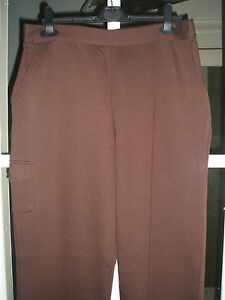 Ladies Pull on Comfort Fit Trousers Chocolate Size 14.