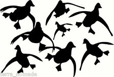 Ducks Flying - Vehicle Stickers Decals Wall Art Wildfowling Hunting Birds Black Large Set