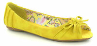 SALE - LADIES SPOT ON FLAT OPEN TOE CASUAL SUMMER SHOES WITH BOW -  F1929
