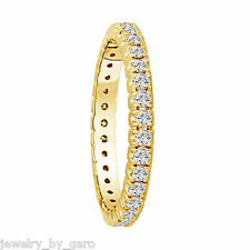 14K YELLOW GOLD WEDDING AND ANNIVERSARY ETERNITY DIAMOND BAND 0.70 CT STACKABLE