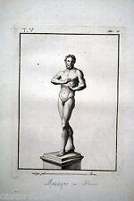 GRAVURE SILENE MARSYAS CRUPEZE fin18è déb19è mythologie Thomas PIROLI HERCULANUM