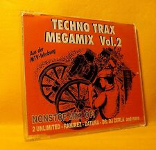 MAXI Single CD Techno Trax Megamix Vol 2 Mixed 2TR 1993 Trance Euro House ZYX !