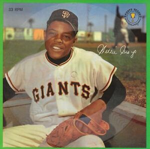 Willie Mays - Auravision – Sports Champions Inc © 1962 Stamped Not Pucnched