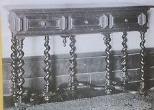 17th c. English Restoration Table with Drawers, Magic Lantern Glass Photo Slide