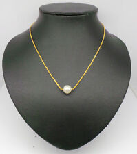 Fresh Water Pearl Chain Necklace 18K Yellow Gold plated 1230 0N 03