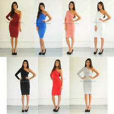 One Shoulder Stretch Dresses for Women