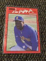 1990 Donruss Ken Griffey Jr. Seattle Mariners #365 Baseball Card Pink Dot Error!