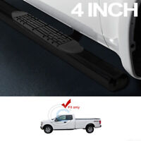 """Fit 15-20 F150 Super/Extended Cab 4"""" Oval Blk Side Step Nerf Bars Running Boards"""
