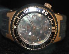 Men's Swiss Legend Neptune Swiss Brown MOP Dial Black Polyurethane Watch