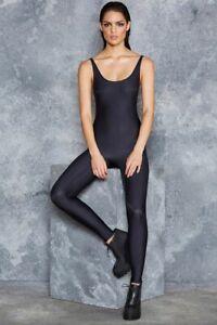 *NEW* BlackMilk Matte Sleeveless Catsuit Medium Black Limited Museum Sharkie