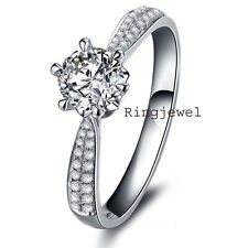 4.15ct-+ D-h-Color vvs1/GREAT WHITE ENGAGEMENT GORGEOURS .925 SILVER RING-VIDEO