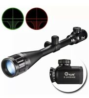 Cvlife Hunting Rifle Scope 6-24x50 AOE Red &Green Mil-Dot Illuminated Gun Scope