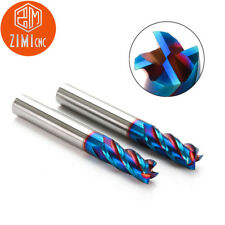 Φ16*40*100L Blue NANO coating Tungsten steel carbide milling cutter CNC end mill