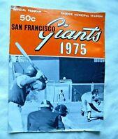 VINTAGE 1975 San Francisco Giants Official Souvenir Program (Good)