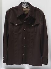 VTG LEE Western Shirt Pearl Snaps Brown Urban Cowboy Leisure Jacket USA 40 Med