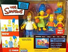 THE SIMPSONS PLAYMATES ENVIROMENT WOS ORIGINAL NOW AND THEN 5 FAMILY FIGURES MIP