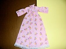 """Clone doll clothes 12"""" Fashion doll Pink Print Floral Dress fit Tammy size 1970S"""