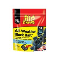 THE BIG CHEESE ALL WEATHER BLOCK BAIT RATS MICE 30 BLOCK PACK