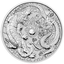 2018 Australia 1 oz Perth .9999 Silver Dragon & Tiger (from mint roll)