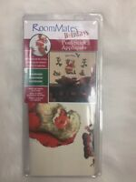 ROOMMATES Santa  Clause Green Red Peel/Stick Appliques Re-positional Christmas