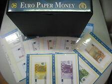 CARTELLA ABAFIL EURO PAPER MONEY CON CUSTODIA E FOGLI PER BANCONOTE