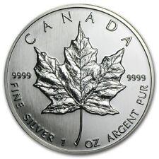 Canada - Maple Leaf 1990 - 1 OZ Silver Argento GRAFFI DI PULITURA
