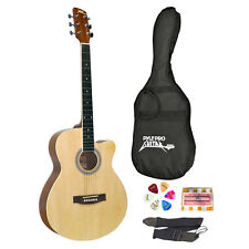 """NEW Pyle PGAKT39 39"""" Inch Beginner Jammer  Acoustic Guitar w/ Carrying Case"""