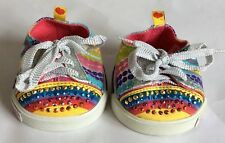 BUILD A BEAR - SKECHERS TWINKLE TOES – BRIGHT SPOTS DESIGN – SNEAKERS/ TRAINERS