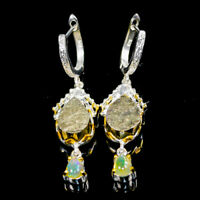 Vintage Natural Pyrite 925 Sterling Silver Earrings /E36103