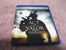 2012 ACT OF VALOR COMBO BLU-RAY DVD + DIGITAL COPY - 2 DVD'S VG CONDITION!