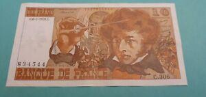 Billet France 10 Francs Berlioz 1978 (0trou)