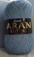 400g Woolcraft 25% Wool Aran Yarn - 810-Denim