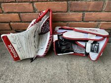 Used Goalie Glove Left Hand Catching Rbk Rebook Hockey Nhl