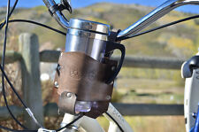 Distressed Brown bike cup holder, coffee cup holder, bike accessory