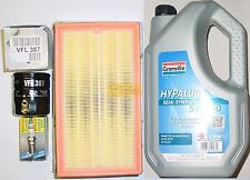 Ford Ka 1.3 96>02 Service Kit Oil & Air Filters Bosch Spark Plugs 5L 5w30 Oil