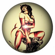 Pool/Billiards Devil Girl on Motor Pin-Up Custom Cue Ball Great Gift! Unique