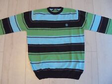 ELEMENT // PULL rayé turquoise vert noir // taille 14 ans