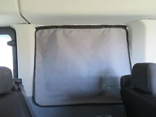 FORD TRANSIT Van High Top Slider Door Window Curtain SHADE Radiant barrier Black
