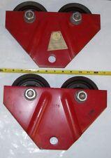Pr. 1 Ton Lifting Hoist Trolley Wheels Rollers,Coffing Hoist Duff-Norton,TG-20-P