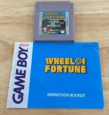 Wheel of Fortune (Nintendo Game Boy, 1990) With Instruction Book Tested