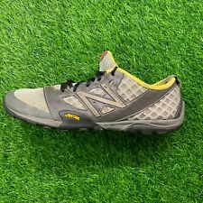 New Balance Mens Minimus Trail Running Hiking Shoes Gray Yellow Vibram Sole 10.5