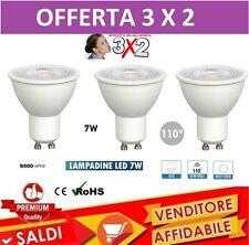 3 FARETTO GU10 LED LAMPADINA A BASSO CONSUMO 110° 7 W LUCE fredda LAMPADA 3X2