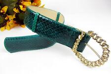 Vintage Genuine Snake Skin Leather Ginnie Johansen Hip Waist Belt Adjustable