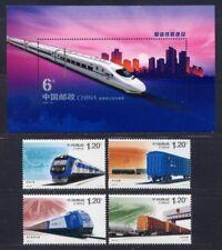 CHINA 2006-30 Railway Construction stamp + S/S Transport train 和諧鐵路